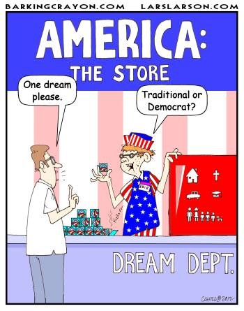 Comic Strip American Dream